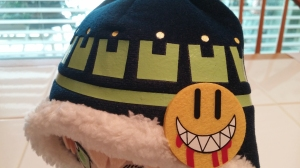 Detail on Noiz's hat