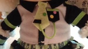 Detail on Noiz's clothing