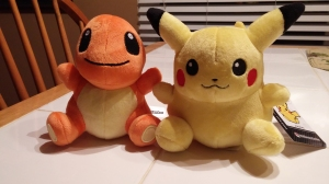 Cute little Pikachu and Charmander Poké Dolls!