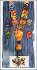 Monster Hunter Pins, Series 1, with a lanyard!