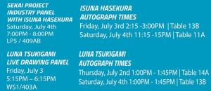 Autograph and panel information!