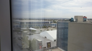 View from our hotel window!  I see you LACC!
