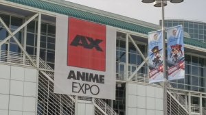 AX banner on the way to pick up badges!