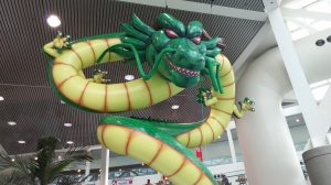 Impressive Shenron display outside the Exhibit Hall!