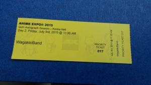 Wagakki Band autograph ticket GET!!