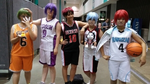 Kuroko no Basket cosplay group!