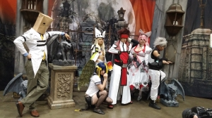 Guilty Gear cosplay group using one of the cosplay sets!