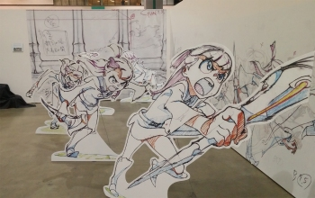 Little Witch Academia cutout stands!