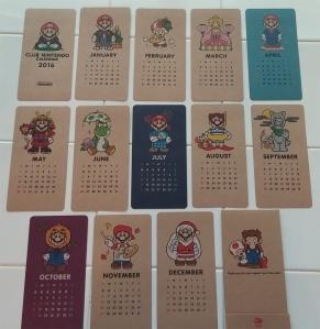 Cute Club Nintendo calendar!