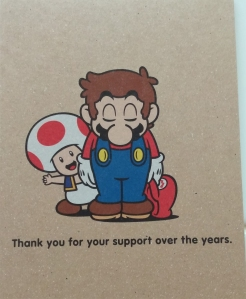 Pretty heartfelt message, since Club Nintendo is now no more.