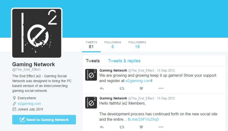 11 - E2 Gaming Twitter